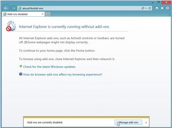 Internet explorer 11 troubleshouting askit solutii si for Probleme ouverture fenetre internet explorer