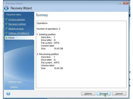 acronis summary windowd