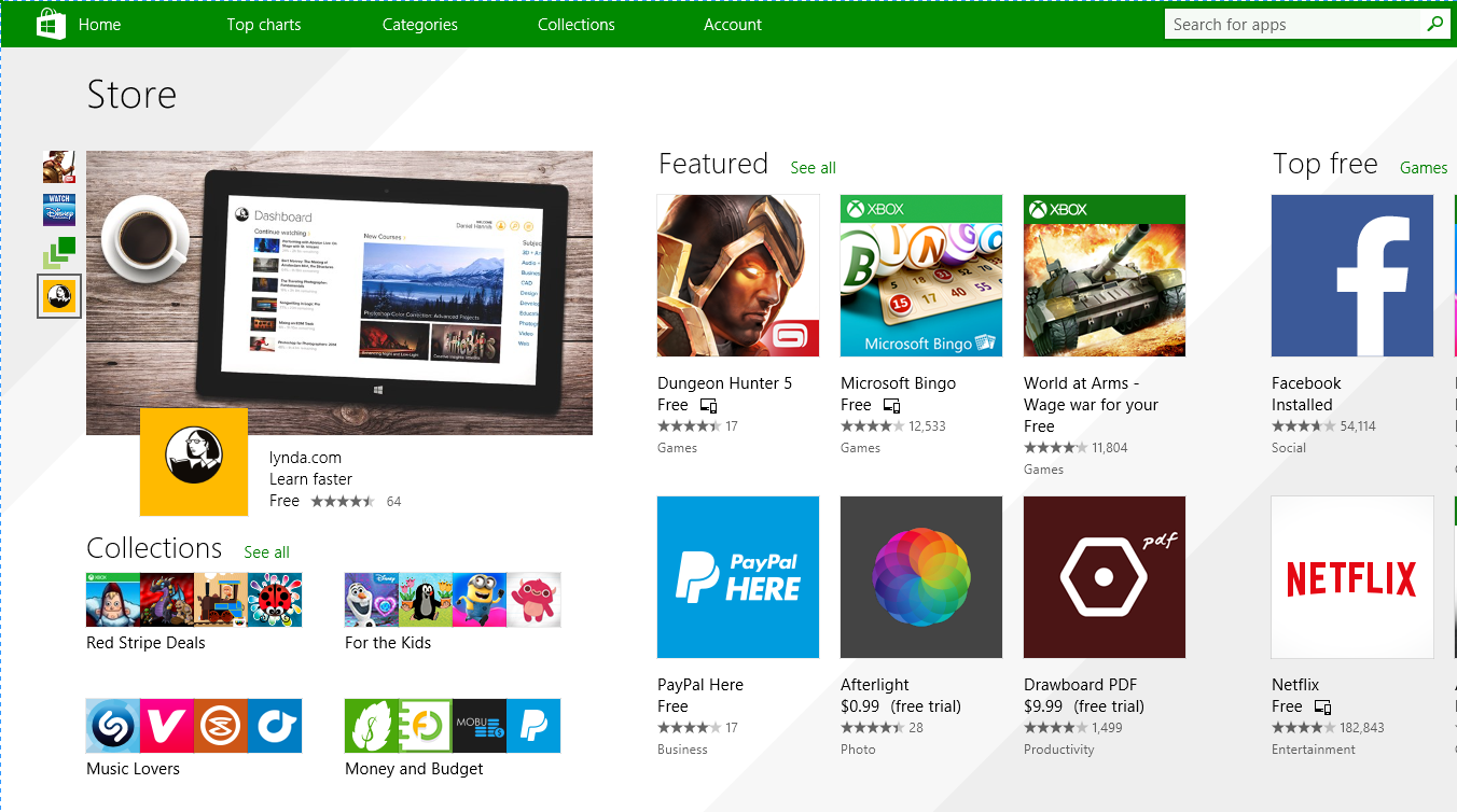 golire cache windows store serch run enter winsows store open