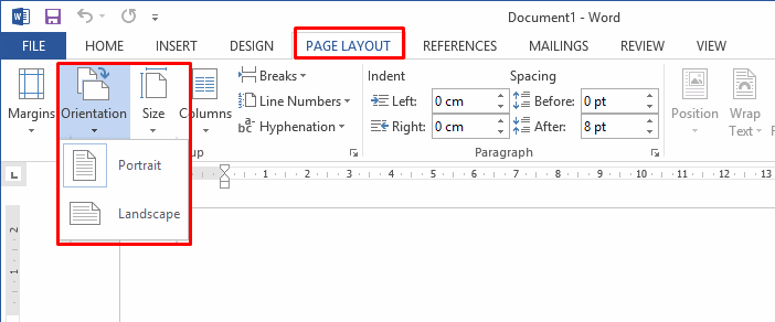 word-page-layout-orientation