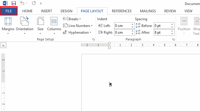 word-page-layout