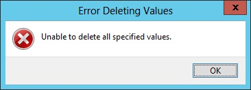 error deleting value