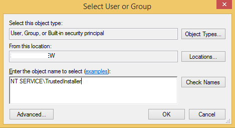 select-user-or-group-trusted-installer