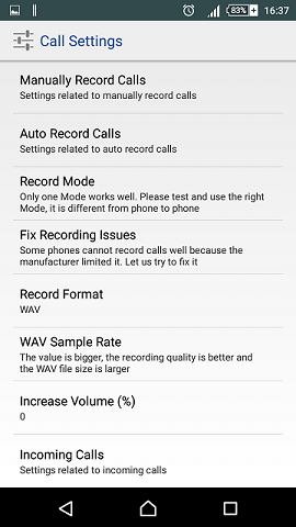 call-settings