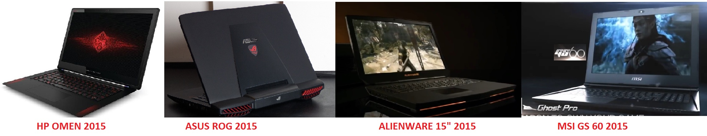 GAMING LAPTOPS 2015
