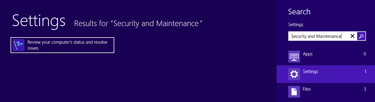 windows defender action center maintenance