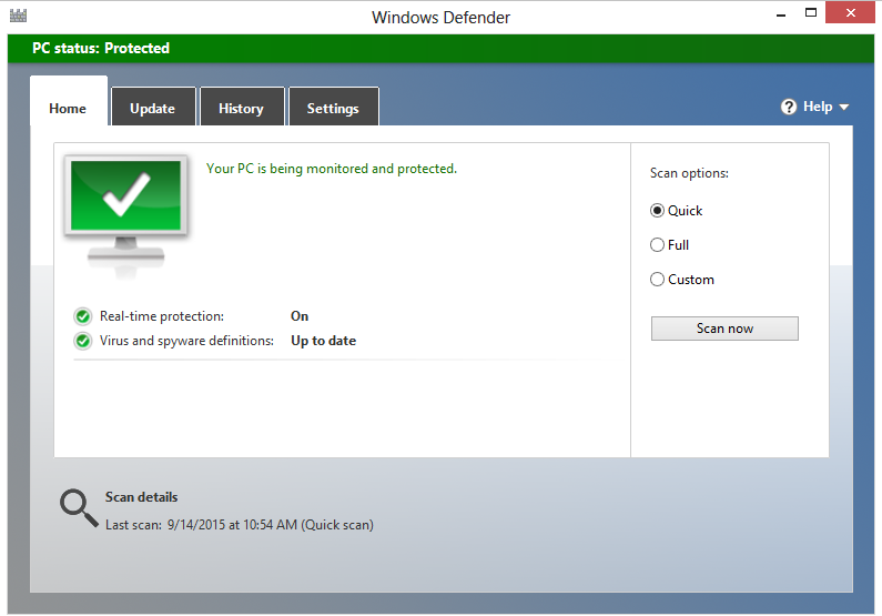 windows defender action center maintenance open security update antivirus la zi