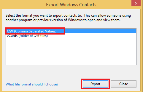 export-windows-contacts-csv