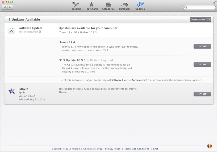 update mac os x software