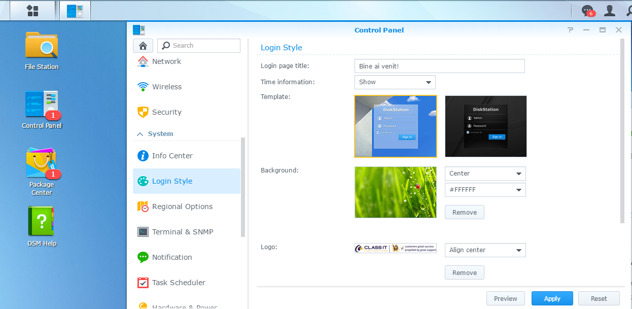 customize-synology-login