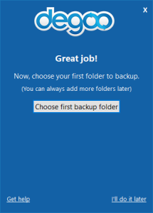 Degoo-choose-folder