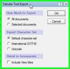 tabular-text-export