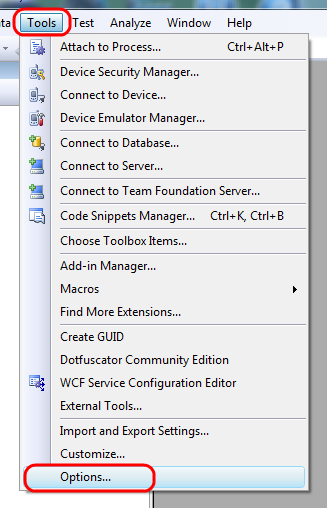 toolsoptions