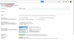 Google Calendar settings share