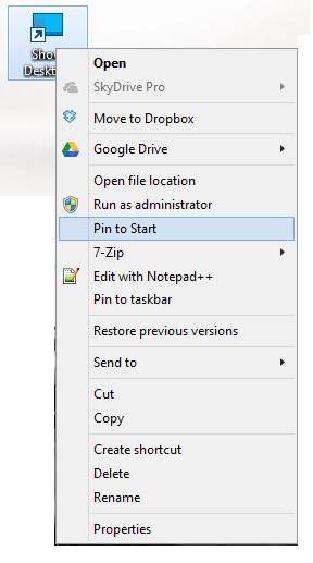 Configureaza butonul de arata ascunde desktop (show desktop) pentru windows 8 - 6