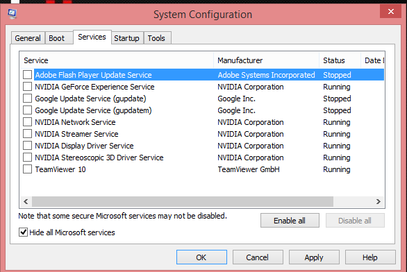 System_Configuration_Services_disable_all_Optimizare