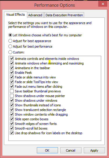 Visual_effects_Adjust for best performance_optimizare_let windows_chouse