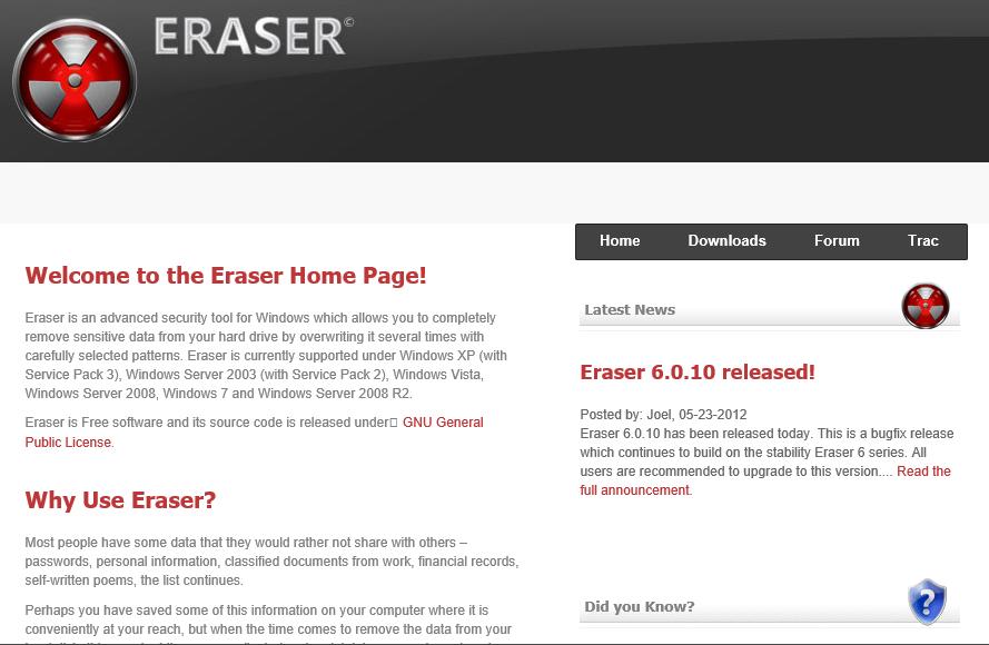 site-eraser
