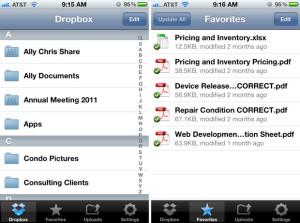 iPhone DropBox