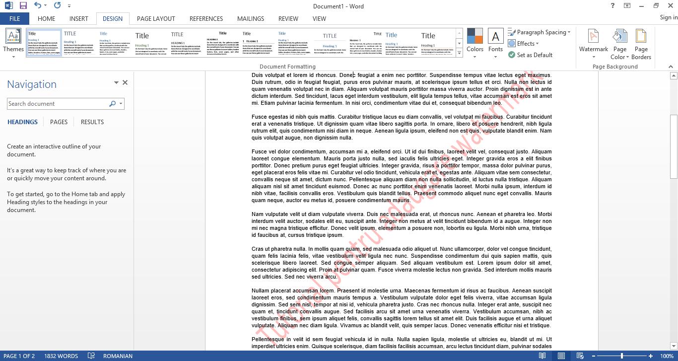 adaugare watermark la un document word 2013 askit solutii si