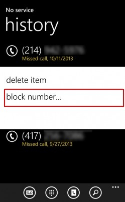 blocheaza numar telefon