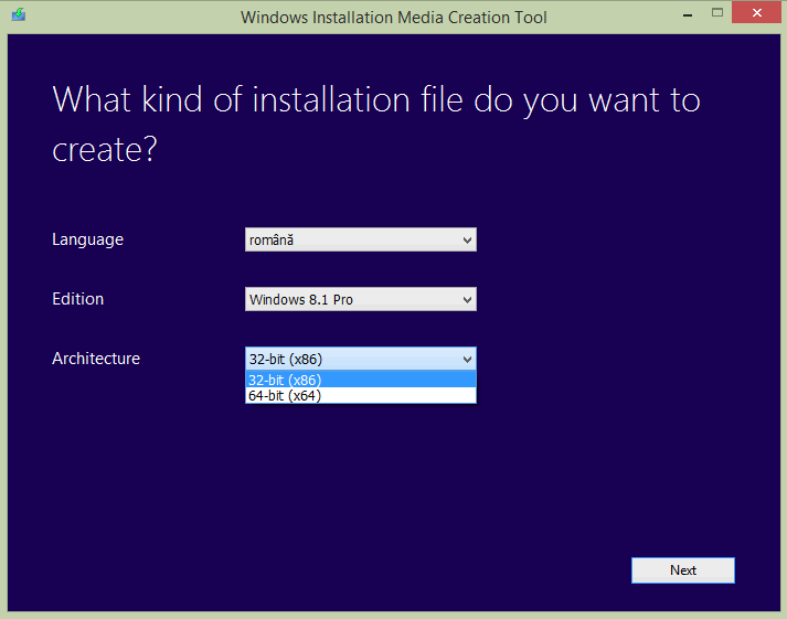 creare-kit-instalare-windows-8-8.1-arhitectura