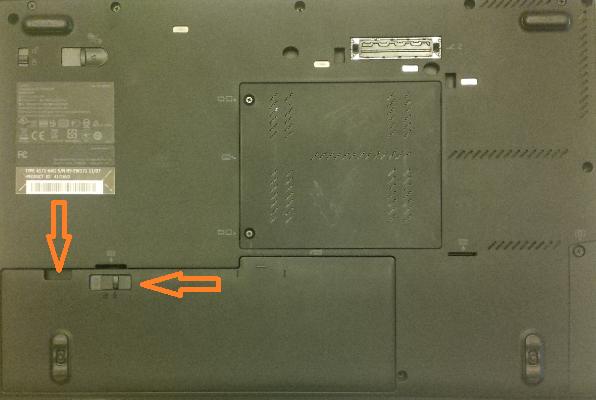 scoatem bateria si suruburile Lenovo ThinkPad T420s