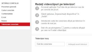 adaugare tv