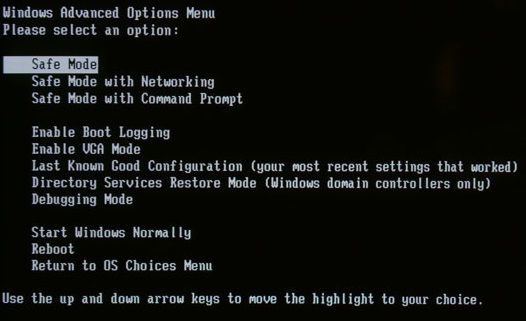 intra in safe mode