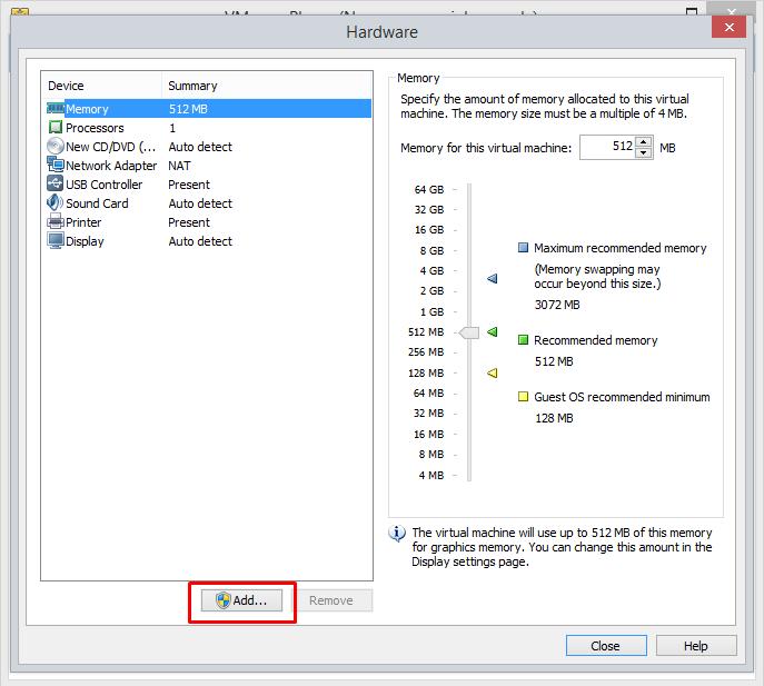 vmware-player-add-hardware