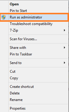 cum sa instalati o aplicatie in compatibility run as administrator