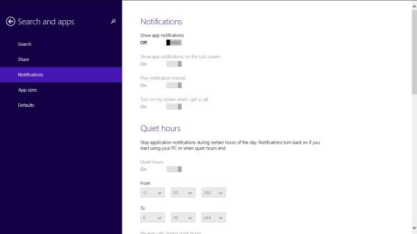 6 dezactivare notificari windows 8