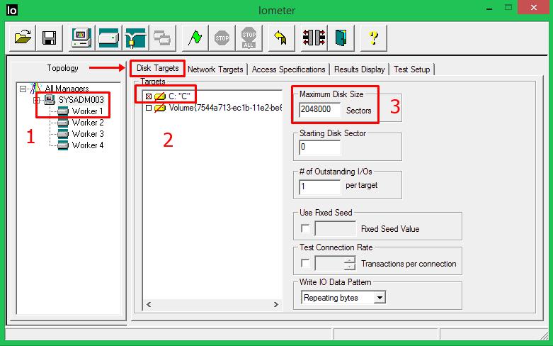 iometer-disk-targets