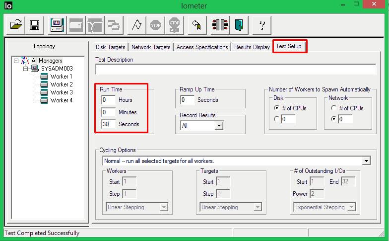 iometer-test-setup