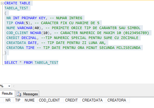 Creare_tabela_sql_microsoft_2012_2014_script_select_create_table_test_char_decimal