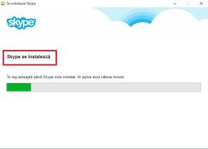 Skype se instaleaza