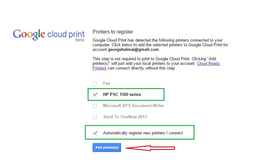google cloud printing 5
