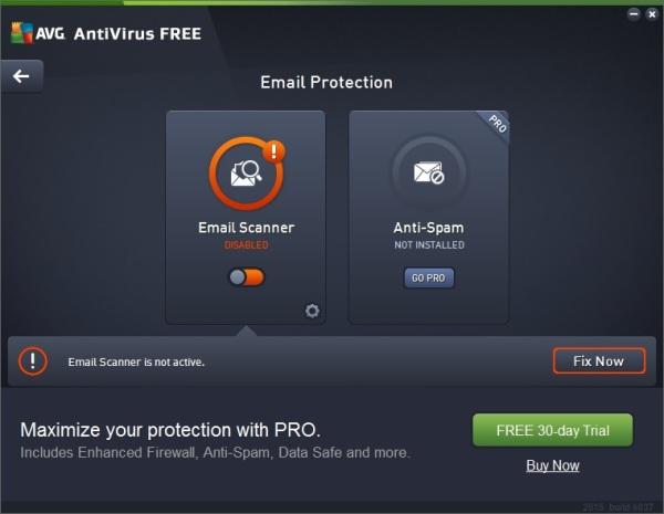 nu se vade continutul emailului in outlook din cauza antivirus avg2