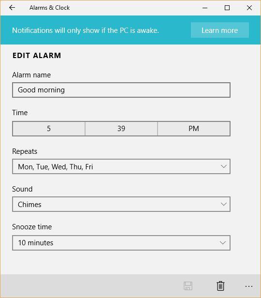 alarma setare