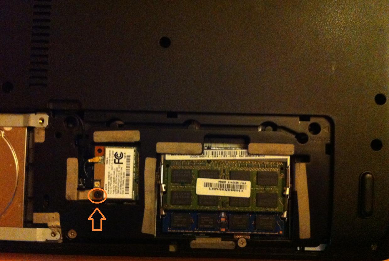 inlocuire modul wi-fi la laptop acer aspire E1-571 surub modul