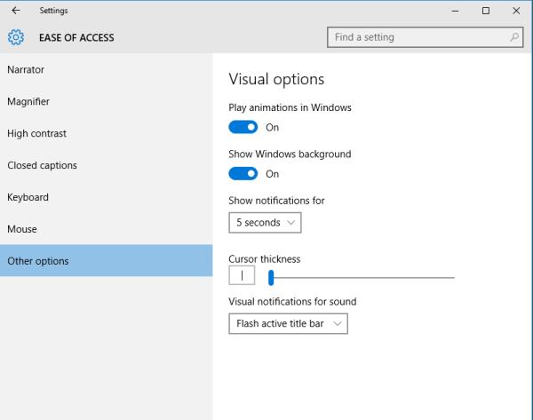 othe options windows 10