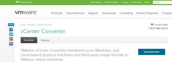 1 cum virtualizam un server fizic folosind vcenter converter