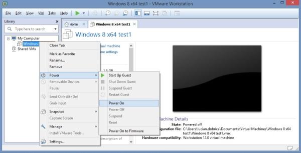 18 Cum se deschide imaginea virtuala a unui server utilizand VMware Workstation
