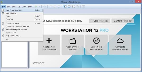 2 Cum se deschide imaginea virtuala a unui server utilizand VMware Workstation