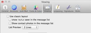 3 mail mac reading pane