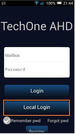 configurare aplciatie mobila pentru H264 local login