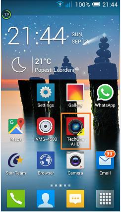 configurare aplciatie mobila pentru H264