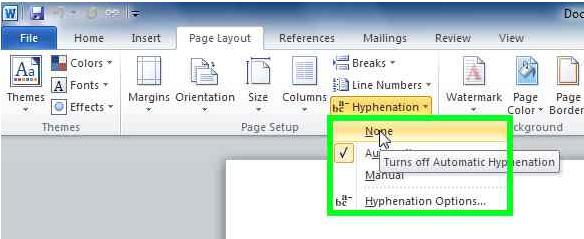 none-hyphenation