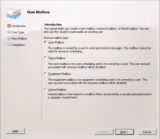 2Cum adaugi un mailbox nou in Exchange 2010