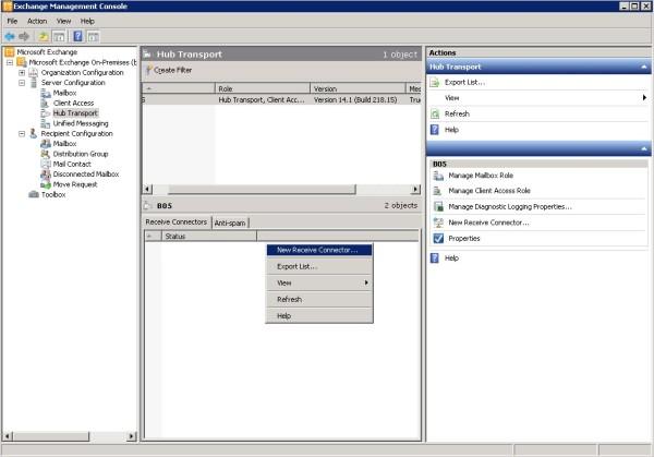 2Cum configurezi SMTP unui server de Exchange sa accepte conexiuni de la un ip extern